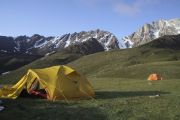 Stop overnight in the mountains of Kyrgyzstan